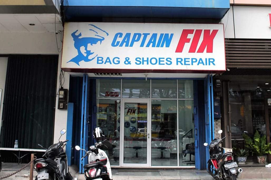 captain fix pondok indah - jasa reparasi koper, tas, sepatu
