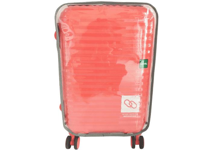 pembuatan sarung koper cover me pink sesudah
